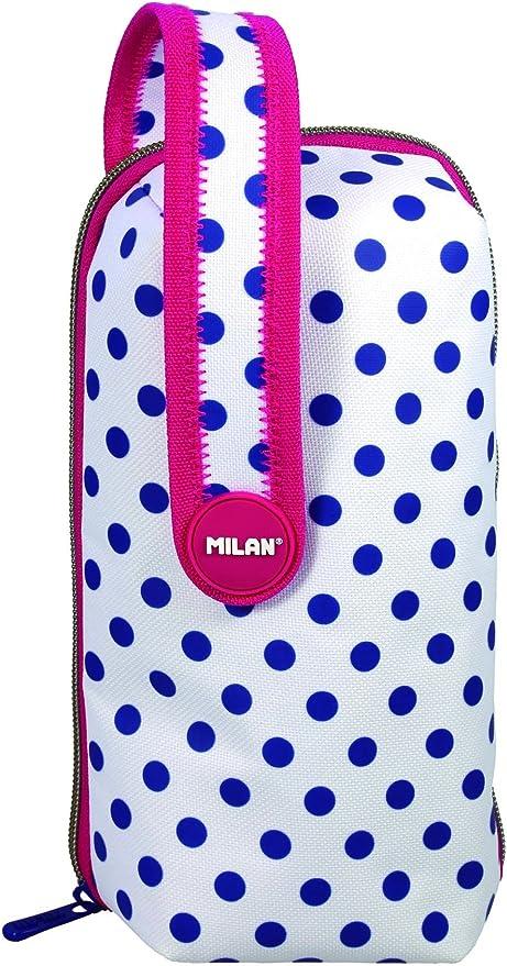 Milan 08872-DT3 - Estuche Milan Dots 3 4 Departamentos: Amazon.es: Oficina y papelería