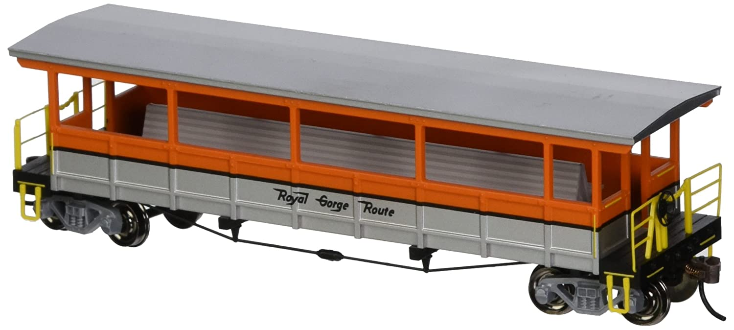 Royal Gorge Open Sided Excursion Car with Seats. HO Scale Bachmann Industries Inc. 17435