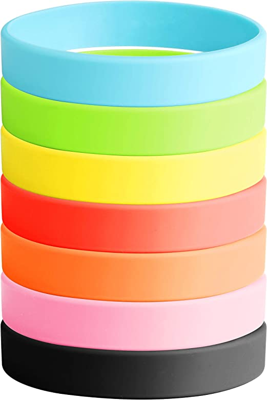 Besteel 7 UNIDS Conjunto de Pulsera de Silicona para Hombres Mujeres Pulseras Bandas Goma Joyería Regalos: Amazon.es: Joyería