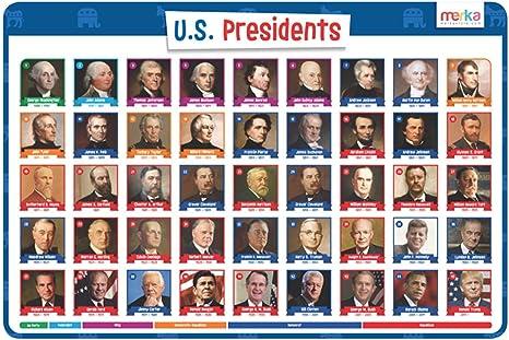 Placemat American  US Presidents /& Presidential Trivia \u2022 Presidential Portraits \u2022 Reversible \u2022 Laminated \u2022 Easy to Clean