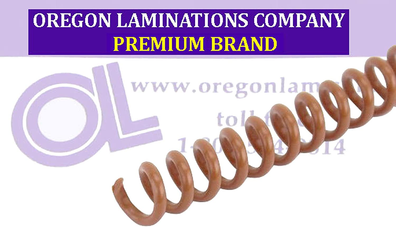 pk of 100 Light Brown /¼ x 36-inch 4:1 PMS 1615 C Spiral Binding Coils 6mm