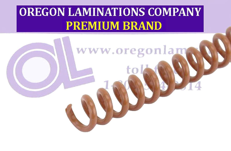 4:1 PMS 1615 C /¼ x 15-inch Legal Spiral Binding Coils 6mm pk of 100 Light Brown