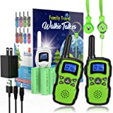 Wishouse 2 Rechargeable Walkie Talkies for Kids with Charger Battery, Two Way Radio Family Talkabout for Adult Cruise…