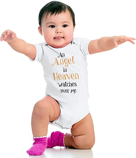 Love somebody in Heaven Baby girl clothes newborn baby gift My Daddy Watches over me in Heaven baby shower gift Daddy in Heaven