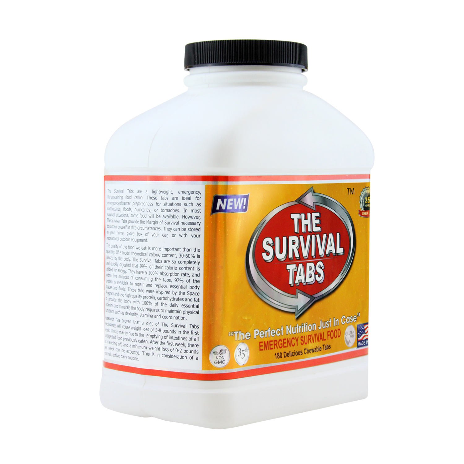 Survival Tabs 60-day Food Supply Emergency Food Ration 720 tabs Survival MREs for Disaster Preparedness for Earthquake Flood Tsunami Gluten Free and Non-GMO 25 Years Shelf Life - Strawberry Flavor by The Survival Tabs (Image #3)