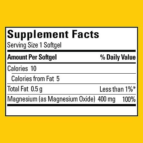 Nature Made High Potency Magnesium 400 mg - 150 Liquid Softgels