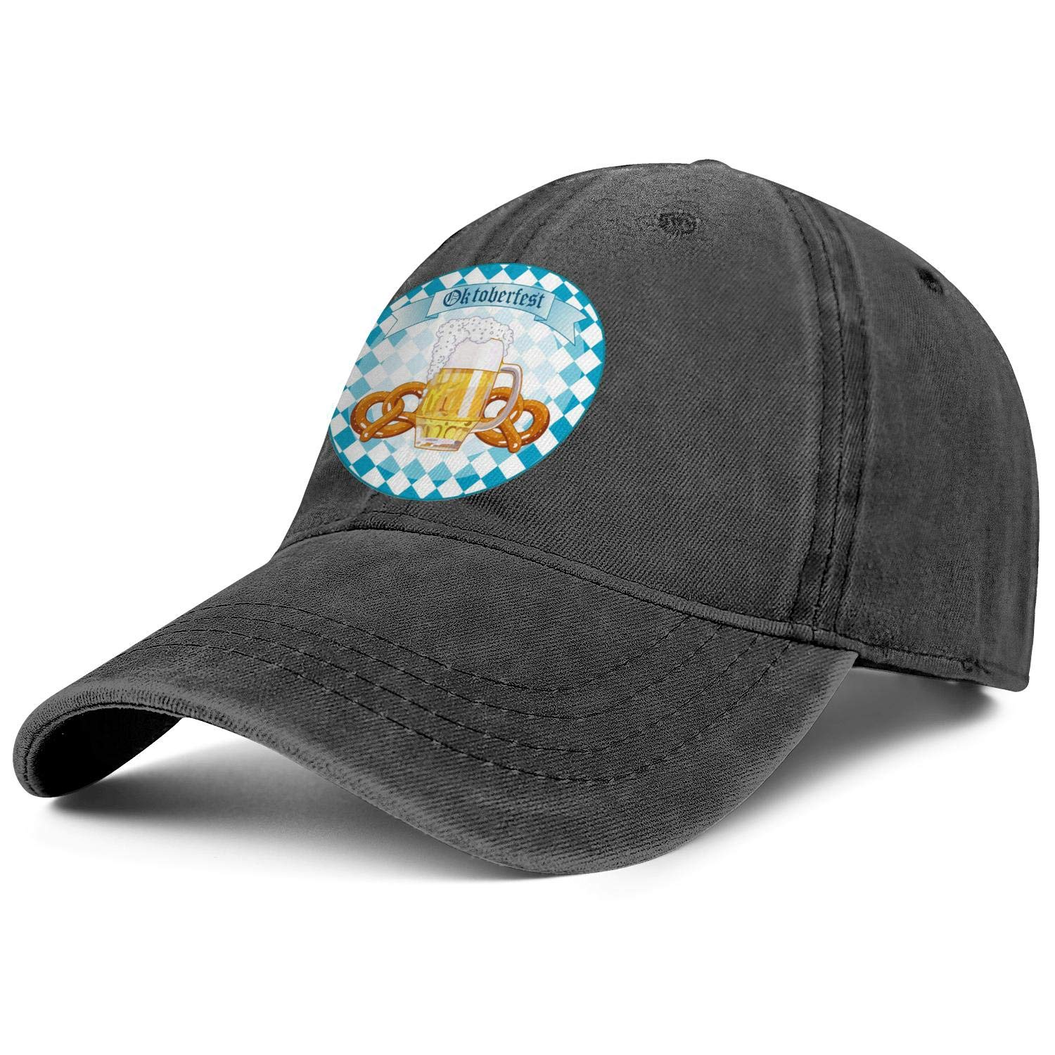 TkYioP Baseball Hats Oktoberfest Celebrations Munich Oktoberfest Beer Bread Adjustable Lightweight Fitted Cap for Women//Men