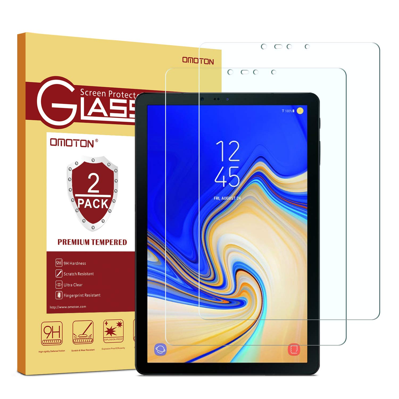 Samsung Galaxy Tab S4 Screen Protector [2 Pack], OMOTON Tempered Glass Screen Protector for Samsung Galaxy Tab S4 10.5 inch (SM-T830 / SM-T837 / SM-T835)