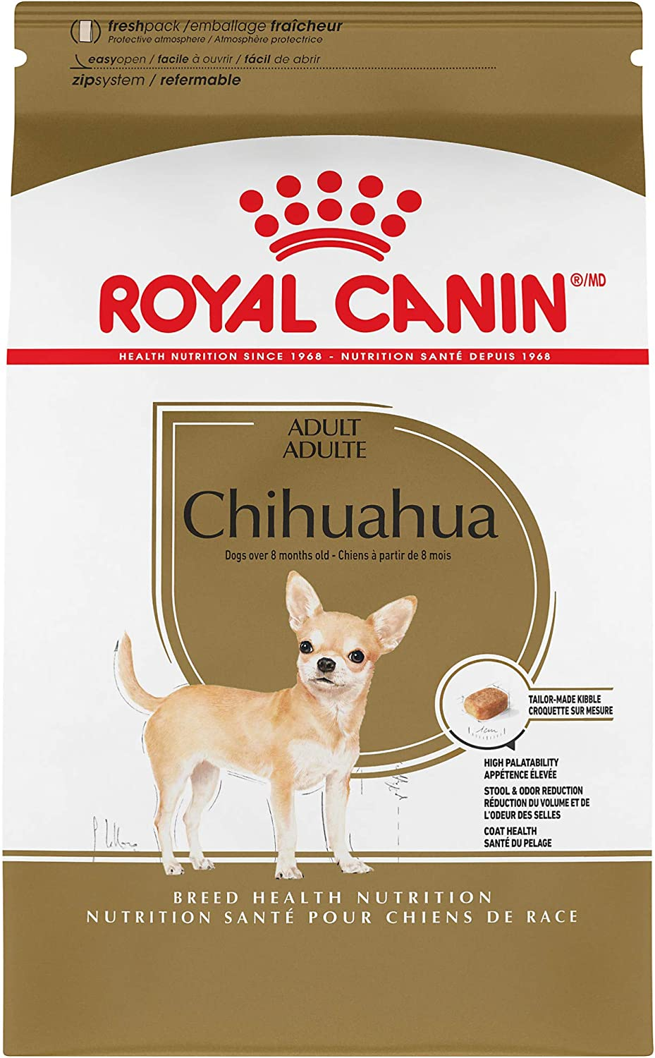 Royal Canin Chihuahua Adult 8+ Breed Specific Dry Dog Food for Senior Dogs