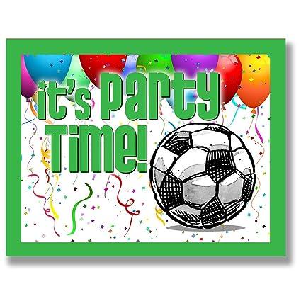 Play resistente sports 12 unidades fútbol invitaciones de ...