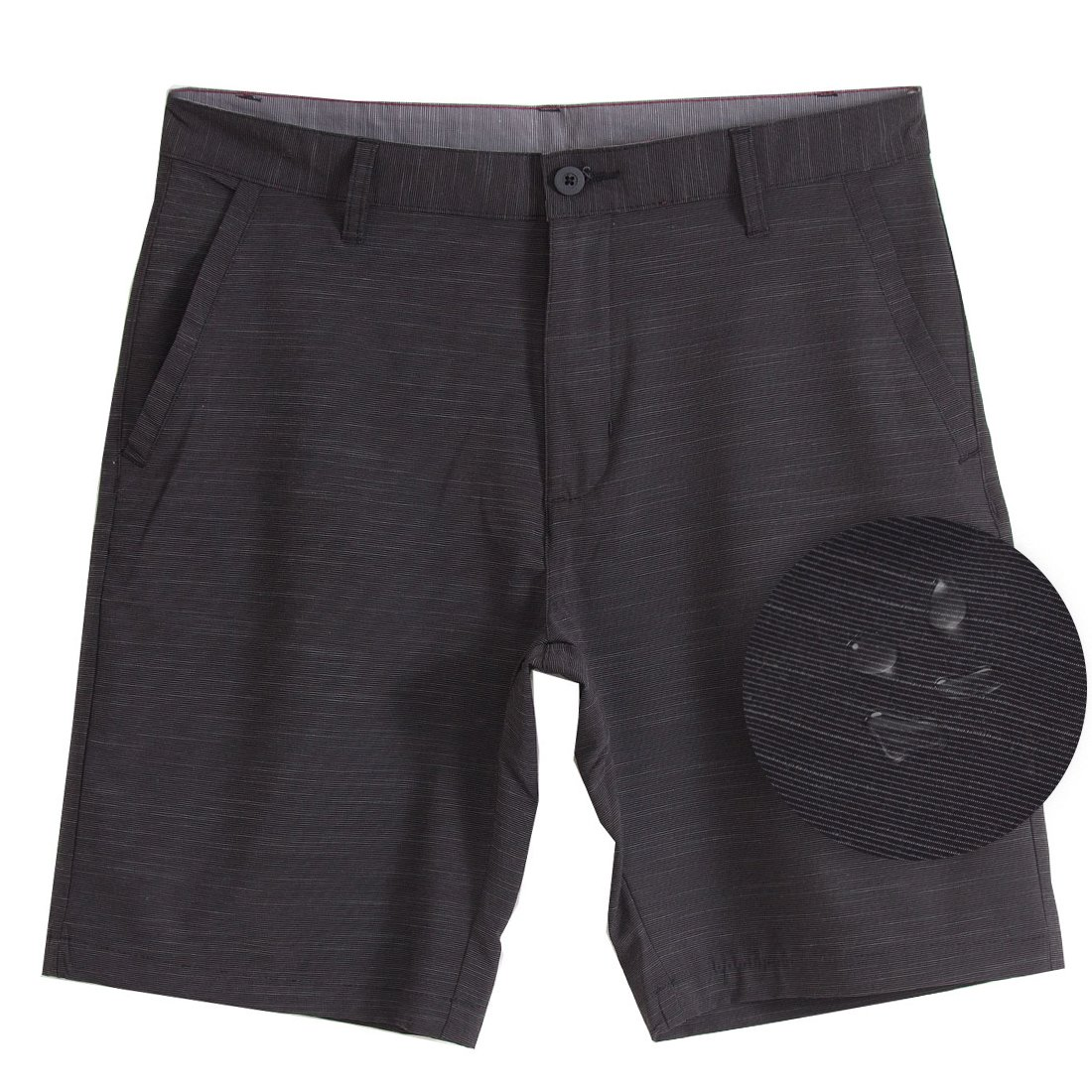 Burnside Hybrid Stretch Shorts for Mens Men Golf Boardshorts Black - 34