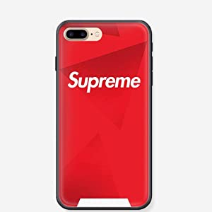 NEW - NYC Street Fashion Brand - TPU Flexible Plastic Protective Case / Cover / Skin / Bumper for iPhone 7 4.7 Inches … (Red)