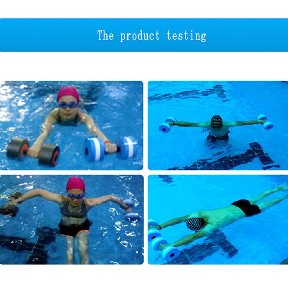 W-ShiG 1 par de Mancuernas de Ejercicios acuáticos para Ejercicios ...