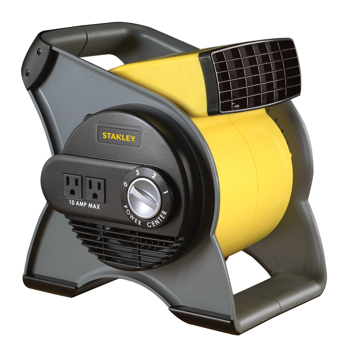 STANLEY 655704 High Velocity Blower Fan - Features Pivoting Blower and Built-in Outlets by Lasko
