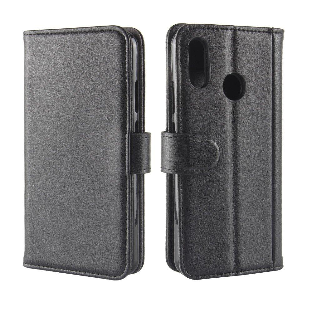 Para Huawei P20 Lite Cadena de cuero de la PU, cubierta del soporte de la tirón Cartera de los titulares de la tarjeta Cierre magnético Funda de protección ...