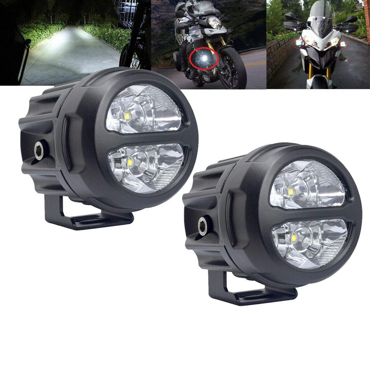 lightronic 2Pcs 3inch Round Led Off Road Lights 20W LED Driving Work Spot Lamp for Motorcycle 4WD Car