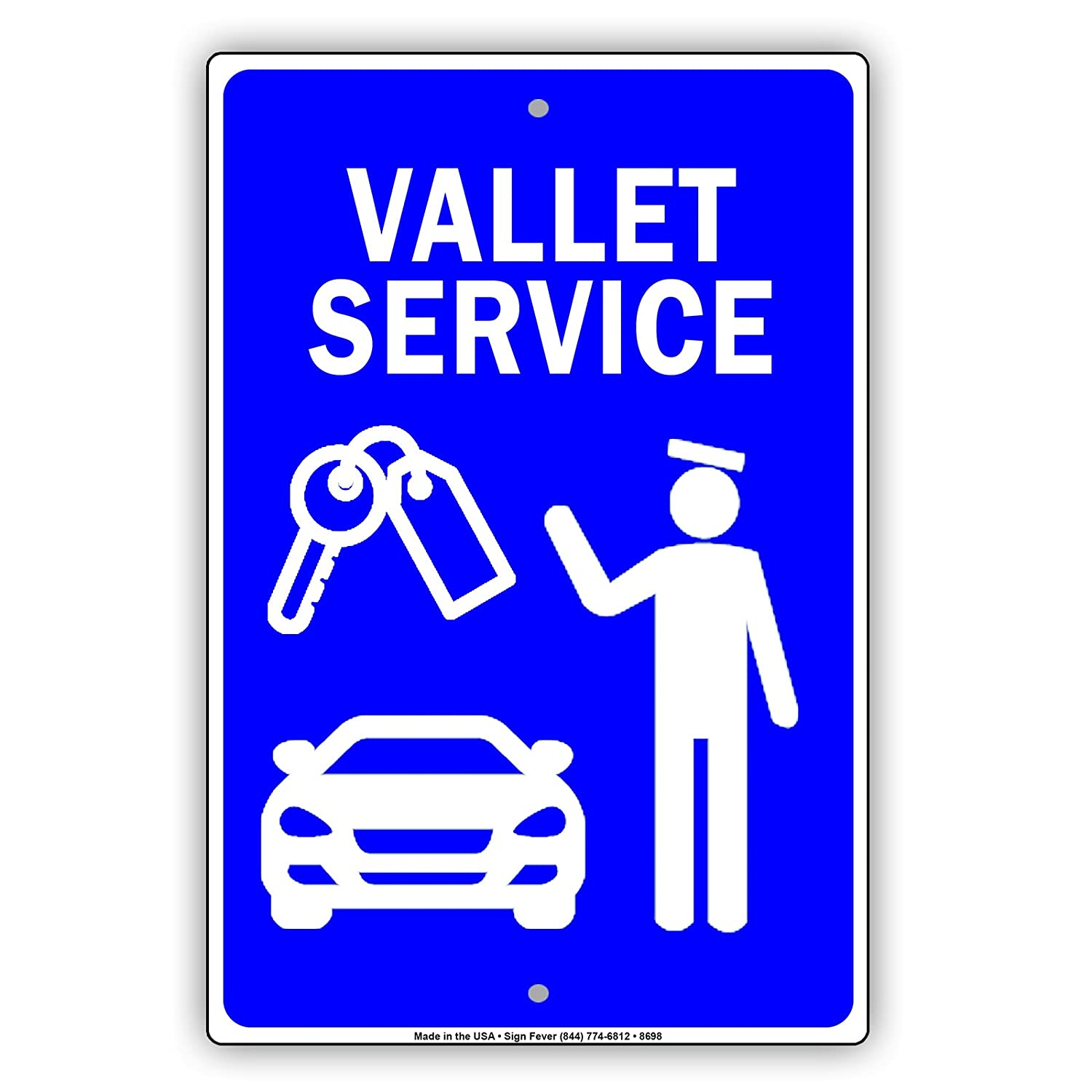 Amazon com: Valet Parking Service Sign Reserved Car Space