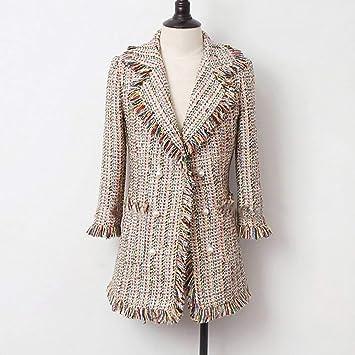 DGFHR Chaqueta De Mujer Chaqueta De Tweed Chaqueta Cruzada ...