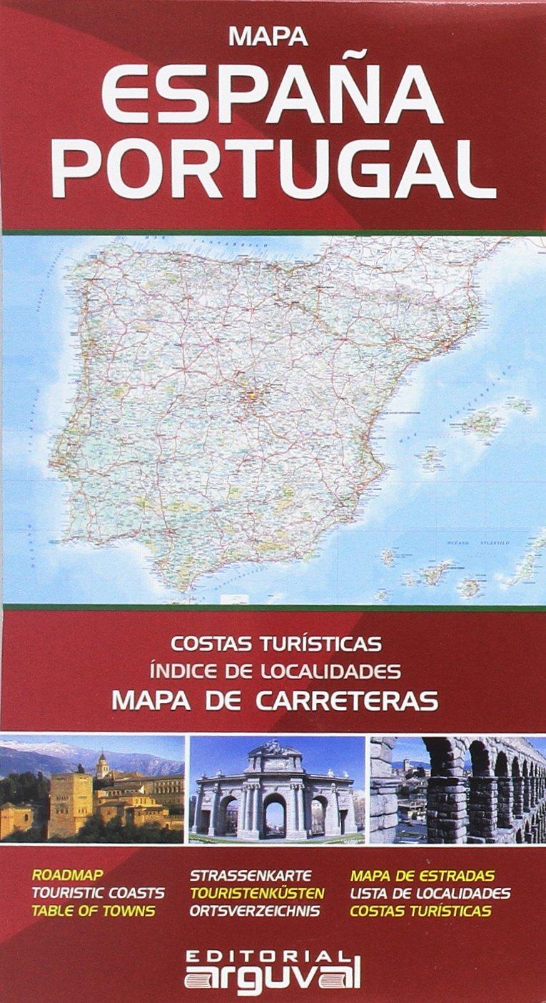 Mapa de Carreteras de España y Portugal MAPAS DE CARRETERAS: Amazon.es: Arguval: Libros