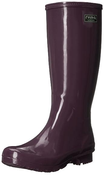Roma Women's Emma Classic Rain Boots Black
