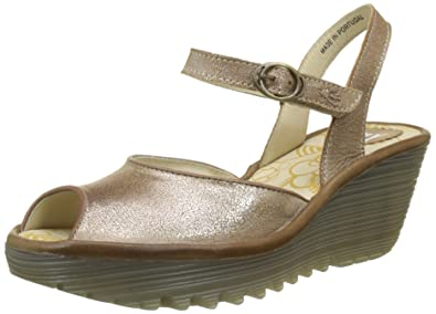 304dbb64f7f0f FLY London Women's YORA830FLY Wedge Sandal, Luna/Camel Cool/Rug, 37 M
