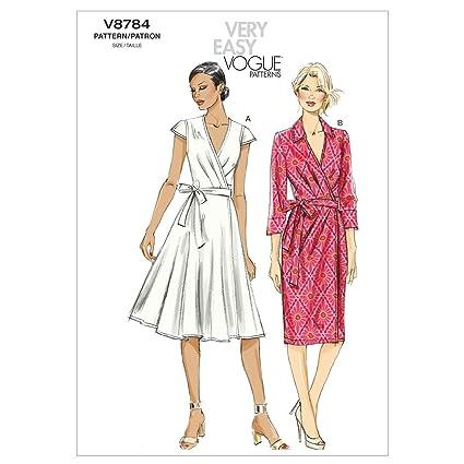 63949c9e20f Vogue V8784 - Cartamodelli per abiti da donna, taglie A5 6-8-10-12 ...
