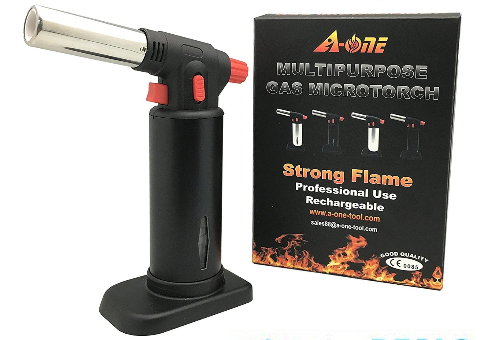 Culinary Torch, AONE Creme Brulee Torch - Kitchen Torch - Best Creme Brulee Torch - Food Torch - Cooking Torch - Cooking Blow Torch - Brulee Torch - Butane Torch For Cooking - Blow Torch