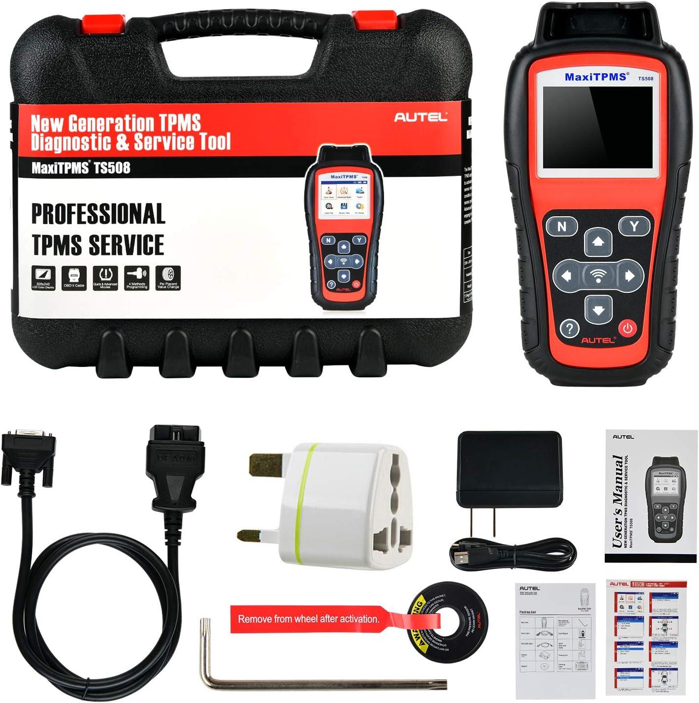 Am/élior/é de TS501 TS401 avec Mode Rapide Programmation TPMS Autel MaxiTPMS TS508 Outil de Diagnostic et de Service TPMS pour Activation du Capteur Options de Mode Avanc/é R/éapprentissage TPMS