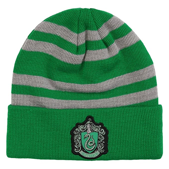 Amazon.com  Harry Potter Slytherin Crest Beanie  Clothing 1a433ce7a94