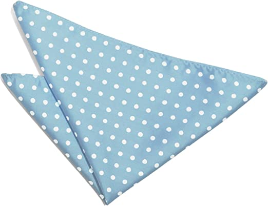 DQT Woven Polka Dot Patterned Fashion Casual Pocket Square Handkerchief 11 Colours Available