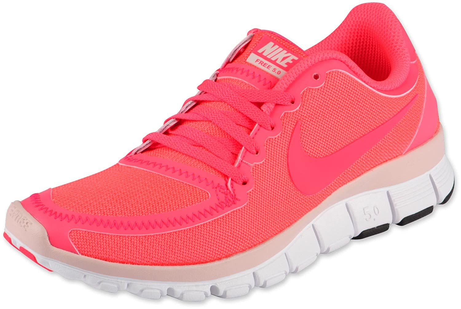 brand new 3d6c0 78f5d Amazon.com   New Womens Nike Free 5.0 V4 Running Shoes 511281-606 Hot Punch  Pink Sz 10   Running