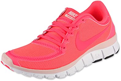 new style 1e76b 87681 Image Unavailable. Image not available for. Color  New Womens Nike Free 5.0  V4 Running Shoes 511281-606 Hot Punch Pink ...