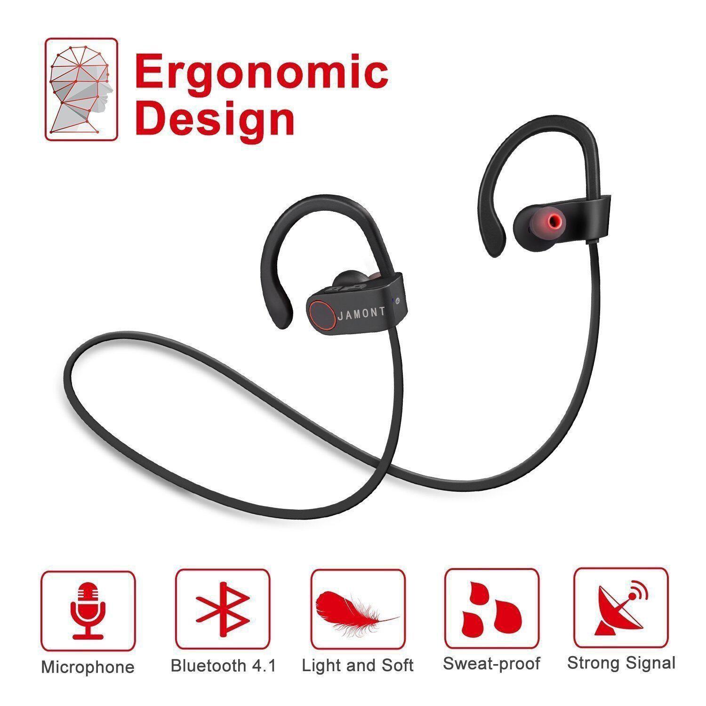 Jamont Bluetooth Auriculares inalámbricos Deportes Auriculares ...
