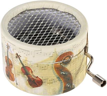 ammoon® Exquisito Caja Musical Manivela Caja de Música 4 Patrones para la Opción: Amazon.es: Instrumentos musicales