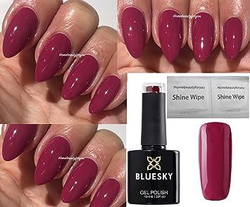 Bluesky Diva Dash Deep Raspberry Limited Special Edition Nail Gel Polish UV  LED Soak Off 10ml PLUS 2 Homebeautyforyou Shine Wipes