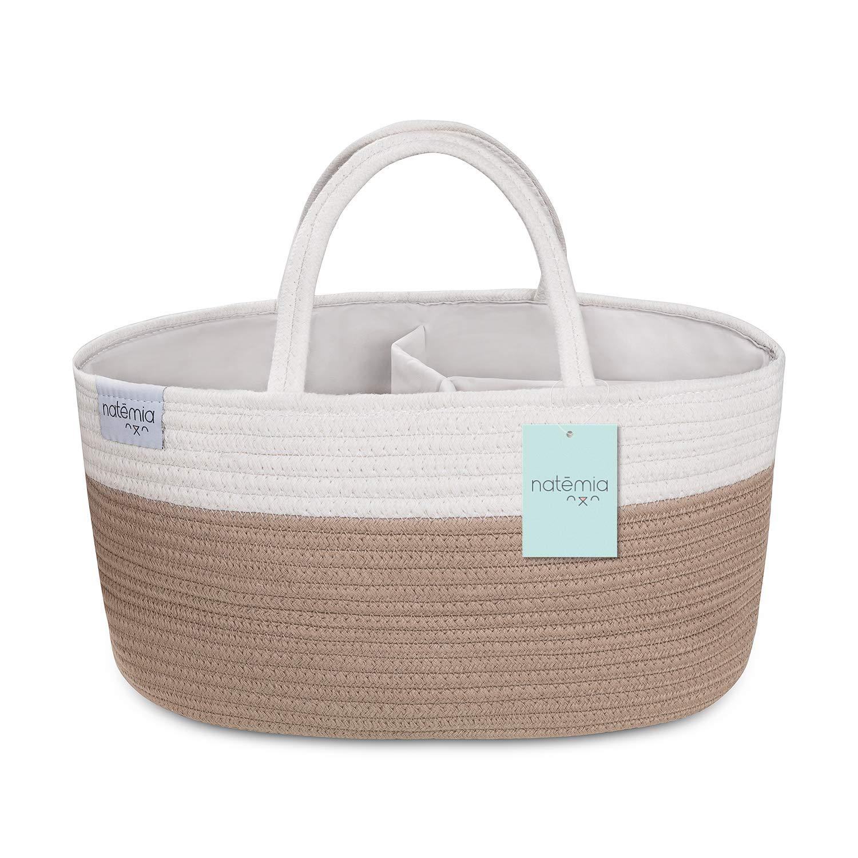 Freahap Baby Diaper Caddy Portable Nursery Storage Bin Travel Organizer for Newborn Diapers Wipes