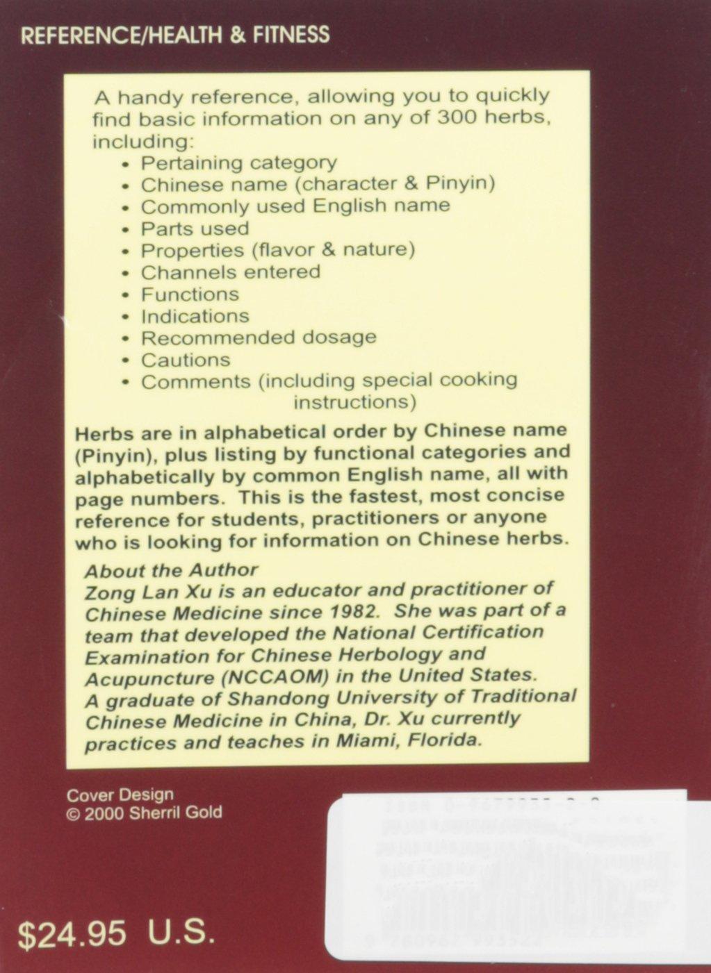 Pocket Handbook of Chinese Herbal Medicine