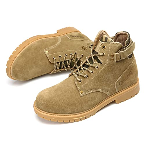 3e92be28067 gracosy Mens Winter Warm Hiking Combat Military Boots Outdoor Low ...