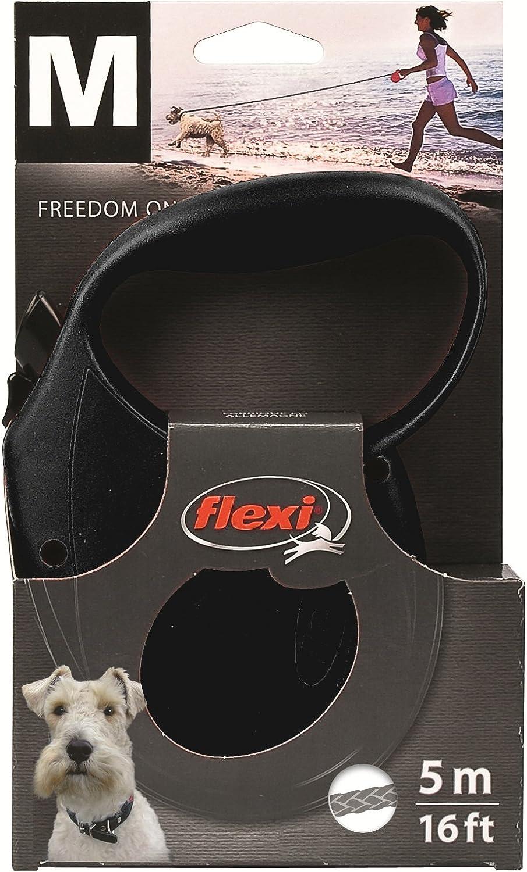 Medium Flexi Standard Cord Lead Black
