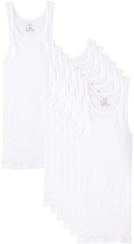 96d027568ec3bc Hanes Ultimate Men s 7-Pack ComfortSoft Tank at Amazon Men s Clothing  store  Undershirts