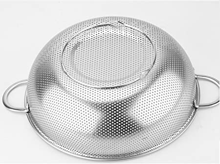Werkzeug K/üchensieb aus Edelstahl mit feinem Mesh-Abtropfsieb /Öl-Frittierl/öffel Sieb tragbar