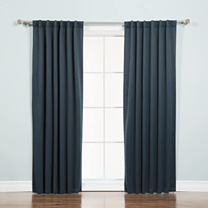 Best Home Fashion Thermal Insulated Blackout Curtains   Back Tab/ Rod  Pocket   Navy