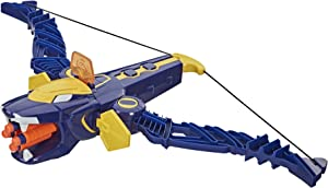 Power Rangers Beast Morphers Beast-X King Mega Bow Toy, Nerf Dart Firing Action, Inspired TV Series, for Boys 8 and Up