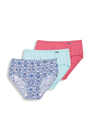 257fa4415e76 Jockey Women's Underwear Elance Hipster - 3 Pack, Sea Glass/Blooming  Latice/Pink