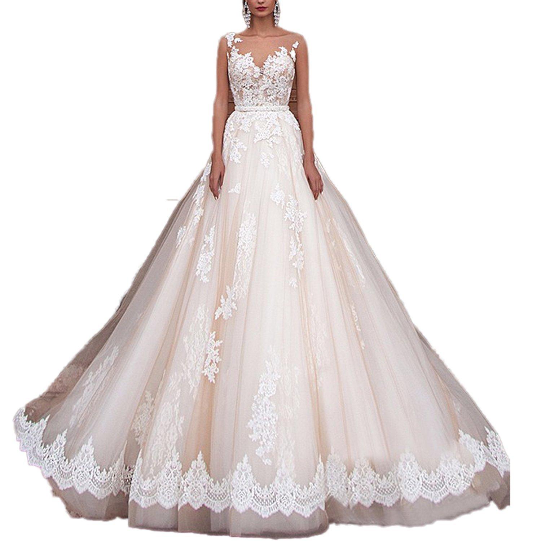 CoCogirls Sexy A-Line Spitze Applique Jahrgang Hochzeitskleid ...