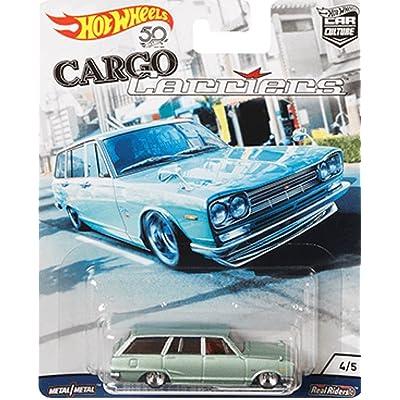 HOT WHEELS 2020 RELEASE CARGO CARRIERS CAR CULTURE SERIES LIGHT GREEN NISSAN C10 SKYLINE WAGON (1969 NISSAN SKYLINE VAN): Toys & Games