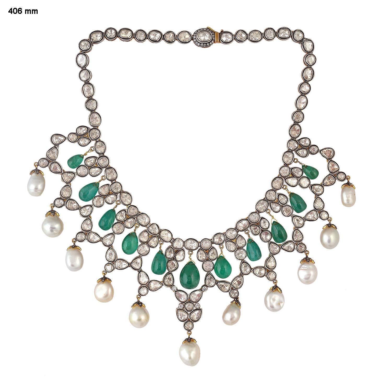 Emerald Vintage Necklace Set