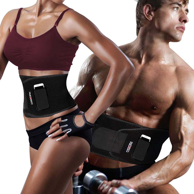 REXSO Waist Trimmer Men Women – Waist Cincher Trimmer – Slimming Body Shaper Belt – Sport Girdle Belt