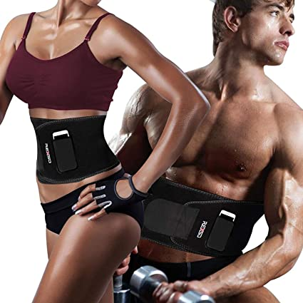 2bd04e3b44 REXSO Waist Trimmer Men Women - Waist Cincher Trimmer - Slimming Body  Shaper Belt - Sport