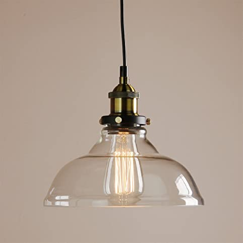 Buyee Industrial Vintage Style Light Fitting Clear Glass Fixture - Bedroom light fittings uk